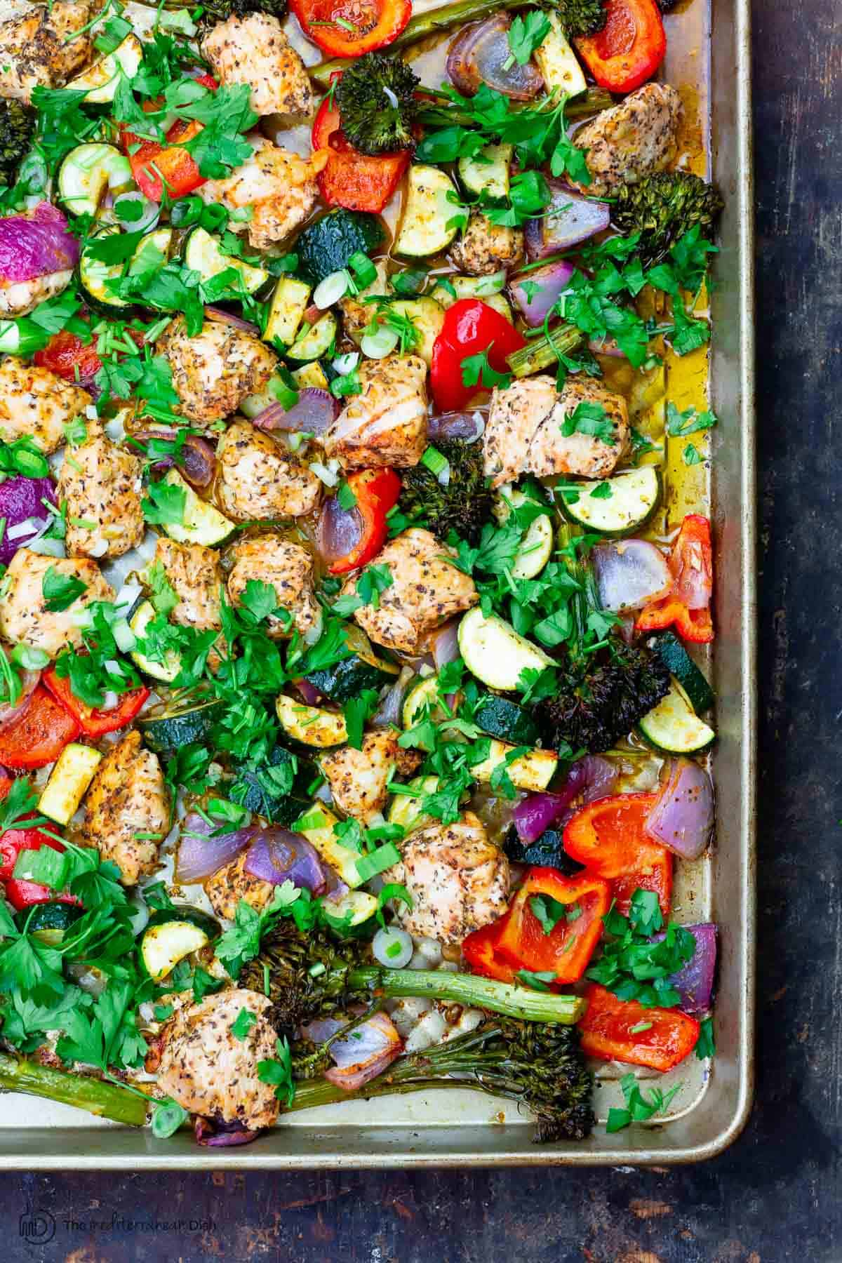 Italian-Style Sheet Pan Chicken with Vegetables